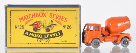 Matchbox No. 26 Cement Lorry Die-Cast Vehicle with Original Box