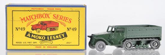 Matchbox No. 49 Army Half Track MK. III Die-Cast Vehicle with Original Box