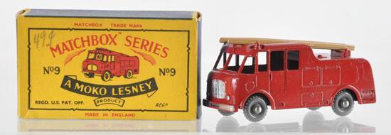Matchbox No. 9 Fire Engine Die-Cast Vehicle with Original Box