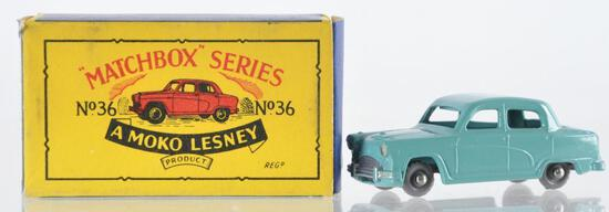 Matchbox No. 36 Austin A 50 Die-Cast Vehicle with Original Box