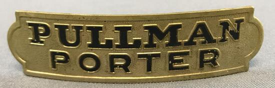 Vintage Pullman porter hat badge