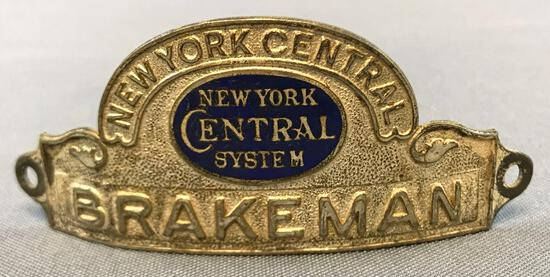 Vintage New York Central brakeman hat badge