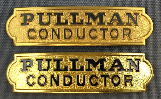 Vintage Pullman Conductor hat badges