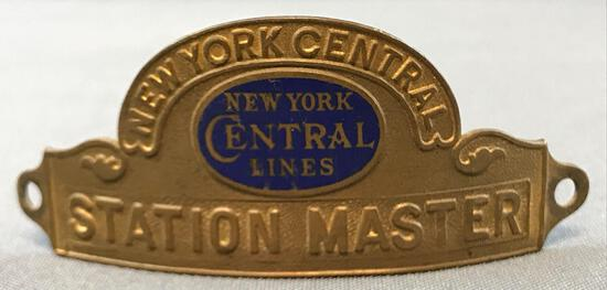 Vintage New York Central Lines station master hat badge