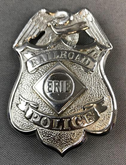 Erie Railroad Police Badge