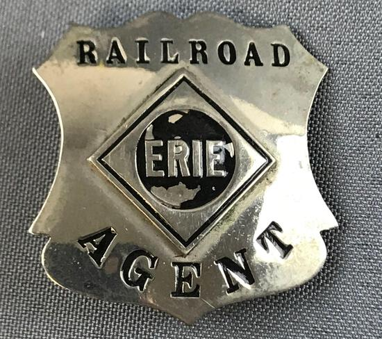 Vintage Erie Railroad Agent badge
