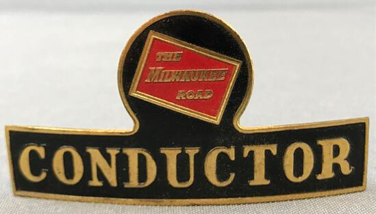 Vintage Milwaukee Road Conductor hat badge