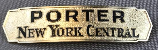 Vintage New York Central Porter hat badge