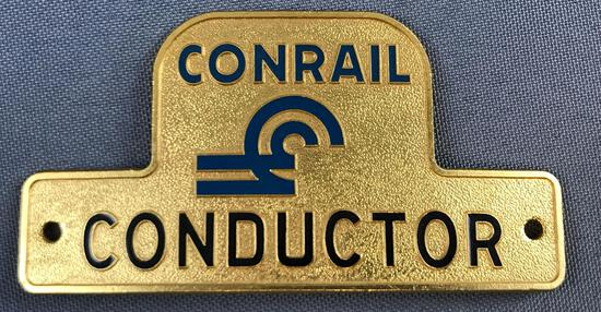 Vintage Conrail Conductor hat badge