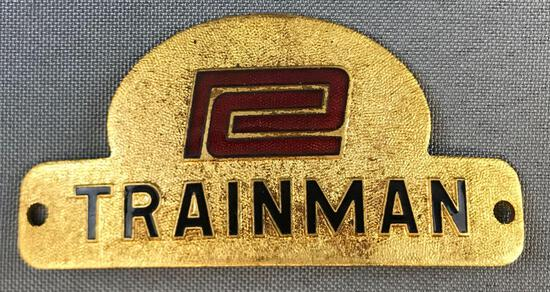 Vintage Penn Central Trainman hat badge
