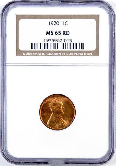 1920 Lincoln Wheat Cent (NGC) MS65RD.