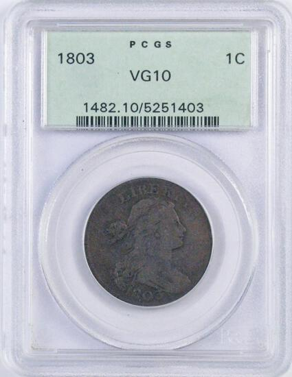 1803 Draped Bust Large Cent (PCGS) VG10