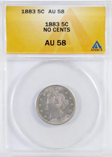 1883 NC Liberty Head Nickel (ANACS) AU58.