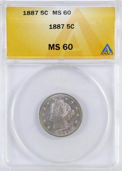 1887 Liberty Head Nickel (ANACS) MS60.