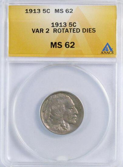 1913 P Ty.2 Buffalo Nickel (ANACS) MS63.