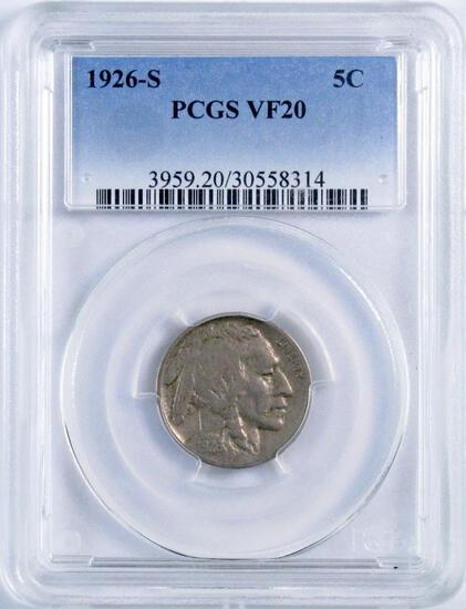 1926 S Buffalo Nickel (PCGS) VF20.