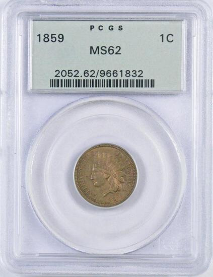 1859 CN Indian Head Cent (PCGS) MS62.