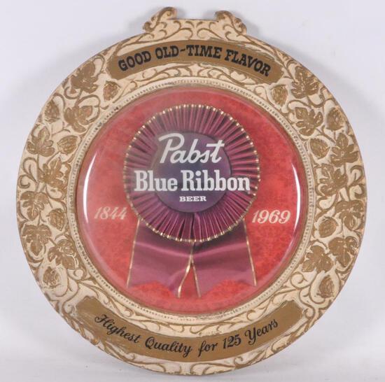 Vintage Pabst Blue Ribbon Advertising Beer Sign