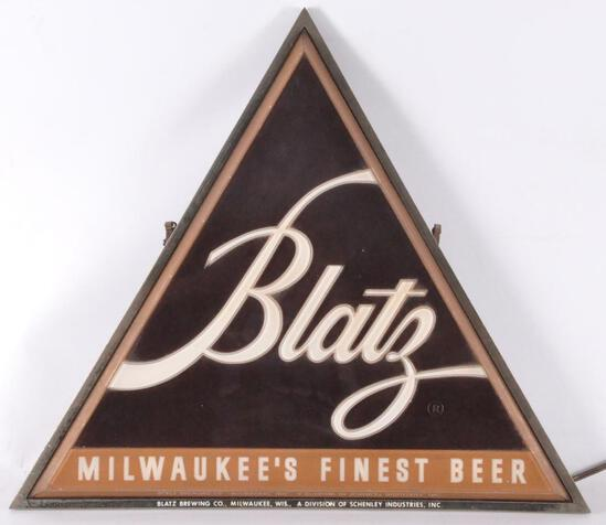 Vintage Blatz Light Up Advertising Beer Sign