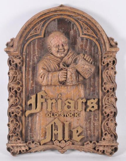 Vintage Friars Old Stock Ale Advertising Beer Sign