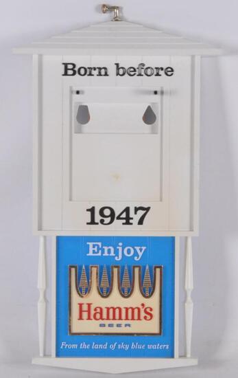"Vintage Hamm's Beer ""Born Before 1947"" Advertising Calendar Beer Sign"