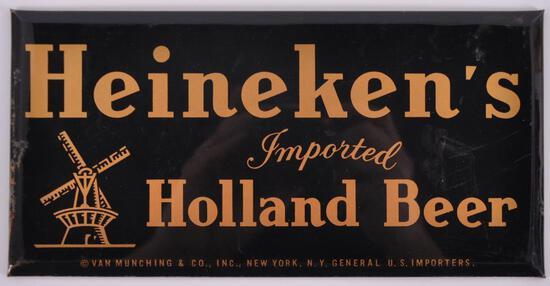 Vintage Heineken's Imported Holland Beer Advertising Celluloid Beer Sign
