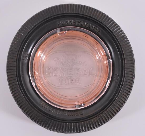 Vintage Pennsylvania and The General Tire Advertising Ashtray