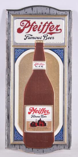 Vintage Pfeiffer Advertising Cardboard Beer Sign