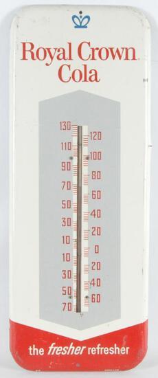 Vintage Royal Crown Cola Advertising Metal Thermometer