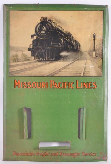 Vintage Missouri Pacific Lines Advertising Metal Sign