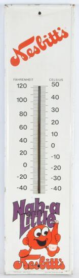 Vintage Nesbitt's Advertising Metal Thermometer