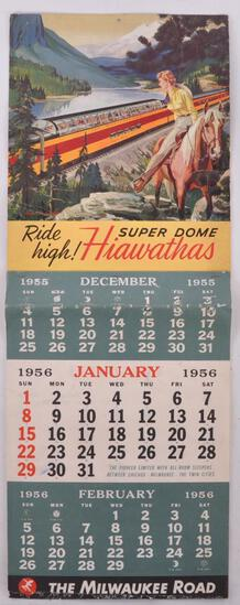 1956 The Milwaukee Road Railroad Advertising Calendar