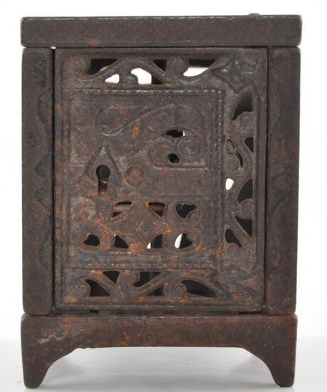 Antique Cast Iron Safe Coin Bank