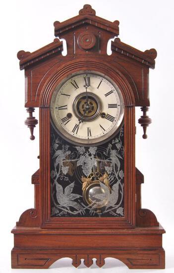 Antique Gilbert Clock Co. Biller Kitchen Clock