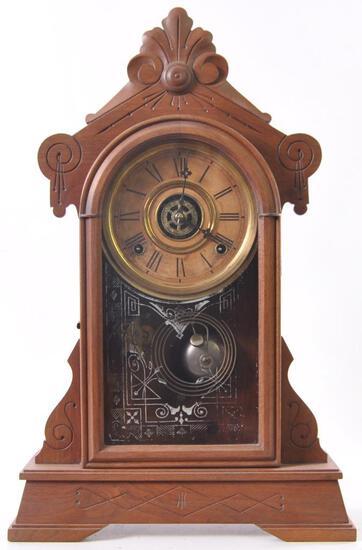 Antique Walnut Kitchen Clock