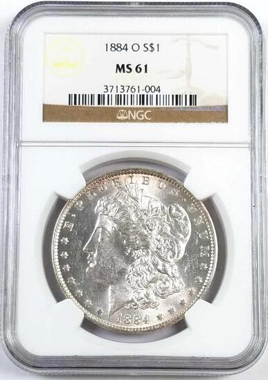 1884 O Morgan Silver Dollar (NGC) MS61.