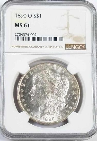 1890 O Morgan Silver Dollar (NGC) MS61.
