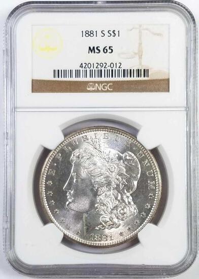 1881 S Morgan Silver Dollar (NGC) MS65.