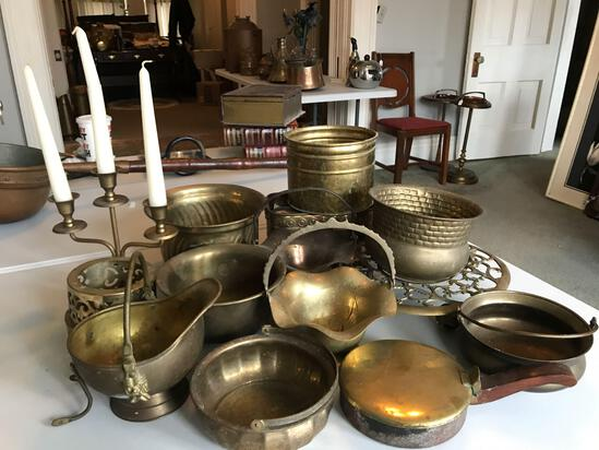 Group of vintage brass items