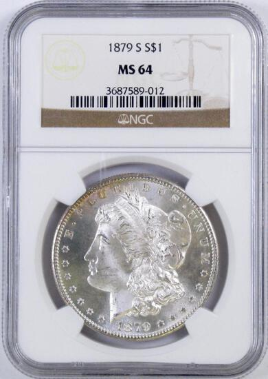 1879 S Morgan Silver Dollar (NGC) MS64.
