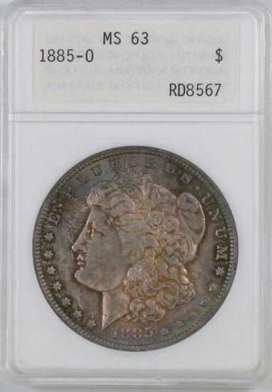 1885 O Morgan Silver Dollar (ANACS) MS63.