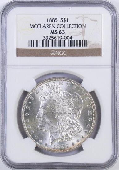 1885 P Morgan Silver Dollar (NGC) MS63.