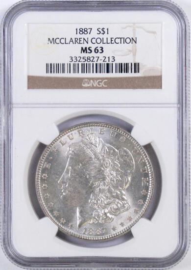 1887 P Morgan Silver Dollar (NGC) MS63.