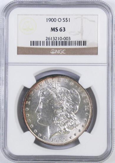 1900 O Morgan Silver Dollar (NGC) MS63.