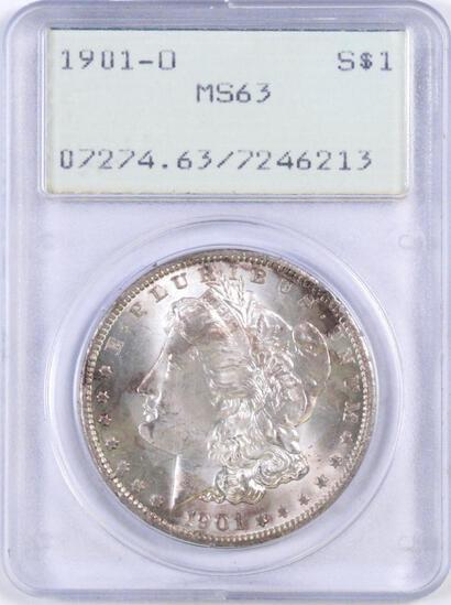 1901 O Morgan Silver Dollar (PCGS) MS63.