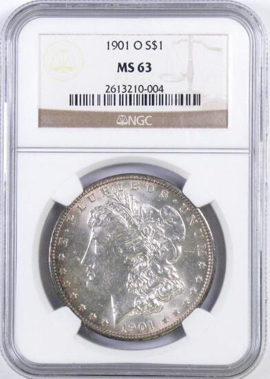 1901 O Morgan Silver Dollar (NGC) MS63.