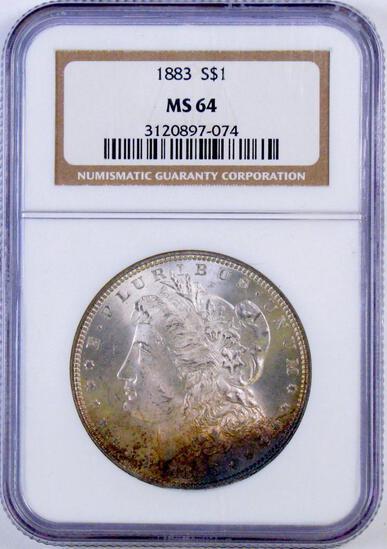 1883 P Morgan Silver Dollar (NGC) MS64.