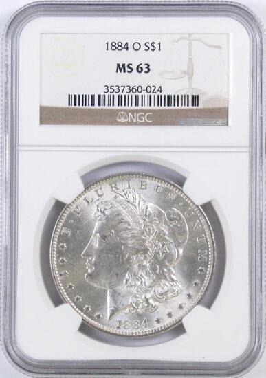 1884 O Morgan Silver Dollar (NGC) MS63.