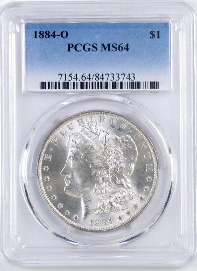 1884 O Morgan Silver Dollar (PCGS) MS64.