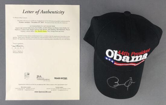 Barack Obama autographed embroidered Velcro hat With letter of authenticity